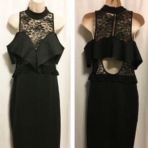 ASOS Dresses - ASOS Ruffle Lace Bodycon Dress